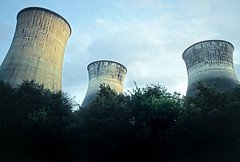 Cooling towers - Acton Lane, Harlesden 1983 (Alan Denney) Tags: london brent electricity coal 1980s powerstation coolingtower harlesden