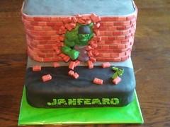 31 LH Hulk (lucysmile_nl) Tags: birthday cake chocolate superhero hulk modelling fondant