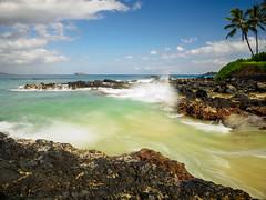 Feeling like Hawaii (bluesywaters) Tags: ocean longexposure morning sunrise landscape hawaii waves secretbeach maui