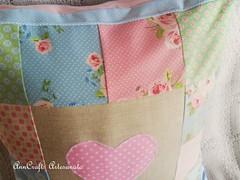 Almofada Corao IV (AnnCrafts Artesanato) Tags: heart linen amor pillow corao patchwork tilda decorao almofada linho