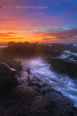 Rocky Coastal Sunset (Ram Suson Photography) Tags: bali beachsunset balisunset travelbali mengening mengeningbeach nikon1635mm mengeningbali mengeningbeachsunset mengeningsunset