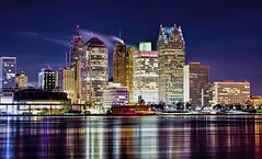 Detroit, Michigan, U.S.A. (Jorge Marco Molina) Tags: city urban usa ontario canada cold skyline buildings river real hotel office gm downtown estate skyscrapers detroit january center highrise windsor metropolis iceberg residential financial renaissance metropolitan condominium riverwalk profesional detriot lowrise michican