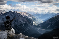 Guglia Rossa, vista sula valle della claree