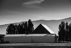 Skagit Valley Barn (M. Waller) Tags: blackandwhite rain barn docks skagitvalley 2014 washiington