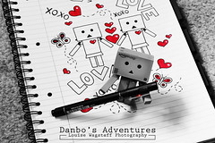 Little-D's Doodle (loulovesdanbo) Tags: playing cute pen toy toys photography blackwhite drawing character doodle expressive playful doodling selectivecolor danbo toyphotography revoltech colorpop danboard danboru danbomini danbophotography
