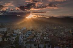 Kathmandu Sunset (craigkass) Tags: travel nepal asia kathmandu monkeytemple swayambhunath paknajol bestcapturesaoi