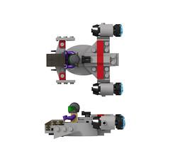 Microfighter Cutlass profile (turbokiwi) Tags: fighter lego chibi mini spaceship hornet constellation cutlass scythe microfighter starcitizen vanduul