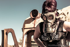 Sasserfraz 2015 (19 of 66) (MrAnathema) Tags: model modeling apocalypse az wilcox gasmask junkyard wasteland sideshowact postapocalypse altmodel pinupmodeling sasserfraz junkyardshootout