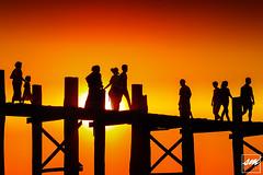 Silhouettes of U Bein (Sunny Merindo | Photography) Tags: travel bridge sunset people sun tourism golden burma silhouettes bein spot tourist hour u destination myanmar mandalay amarapura ubein smerindo sunnymerindo sunnymerindoimages
