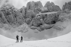 Frozen Mountains (A Cris ... Je suis Charlie. Slowly back...) Tags: blackandwhite white snow mountains frozen scialpinismo abruzzo gransasso apennines calderone