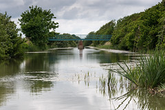 Tranquility and beauty ... (gilliesavo) Tags: bridge green nature water beauty clouds reflections canal kent pov path may foliage hythe royalmilitarycanal princesparade