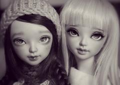 The Sarang Sisters (H a r r y C a t o) Tags: cute love sisters oscar eyes doll harry twin x dreamy bjd sarang fairyland abjd cato jointed mnf minifee xhanthi
