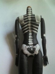 w.i.p (ink_heron) Tags: skull calavera dollcustom blythecustom