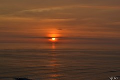 Sunset Malecn de Miraflores - Lima Per (Hugo Paucar Cisneros) Tags: sunset sun sol peru clouds mar lima cielo nubes puestadesol malecn