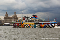 Dazzle Ship (Brian Sayle) Tags: ferry architecture liverpool dazzle citycentre pierhead ferryboat 6d 70200mm 200mm rivermersey canonef70200mmf4l canon70200mm merseyferry mannisland eos6d liverpoolcitycentre canon6d canoneos6d dazzleship