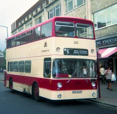 0808 19790807 Southampton UPO 243T (CWG43) Tags: uk bus southampton leyland eastlancs atlantean an68a1r upo243t