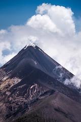 Vucn de Fuego Spewing (Erik Pronske) Tags: sky mountain nature rock clouds volcano lava nationalpark guatemala antigua gt active spewing chimaltenango vulcndefuego