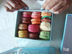 Macarons with her (Maddily M.G.) Tags: paris dessert yummy couleurs patisserie manger dgustation douceur macaron