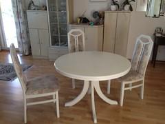 Tisch mit 4 Sthlen (suark_ch) Tags: weisser tisch mit 4 sthlen hoher rckenlehne