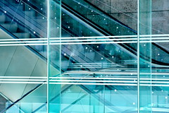 up and down (Harry Halibut) Tags: street art public glass lines liverpool project john shopping one paradise south centre curves images link leisure escalators residential complex allrightsreserved liverpoolone liverpoolarchitecture liverpoolbuildings colourbysoftwarelaziness imagesofliverpool publicartinliverpool 2015andrewpettigrew liverpool1606232650