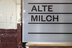 Alte Milch (jo.schz) Tags: food white black berlin sign cheese kreuzberg germany milch alte