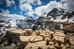 Narao Boulders (Darren Umbsaar) Tags: blue sky mountain canada mountains clouds rockies bc rocky peak columbia canadian glacier mount summit british scramble yoho popes narao
