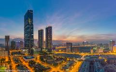 Night Keangnam (phuong0304p) Tags: longexposure blue light sunset cloud building sunrise exposure cityscape cloudy cityscapes hour bluehour hanoi cityskyline keangnam hanoiskyline