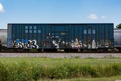 (o texano) Tags: bench graffiti texas houston trains rp expos freights benching