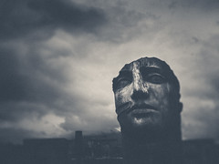 pompeii (miemo) Tags: travel sky blackandwhite bw italy art history face statue clouds spring ancient ruins europe campania roman head olympus pompeii unescoworldheritage pompei omd tiltshift ancientrome igormitoraj historicalsight omzuiko28mmf28 em5mkii