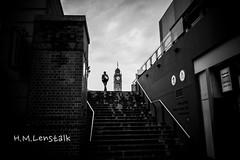 MONO0102 (H.M.Lentalk) Tags: life street leica city people urban white black tower clock monochrome time oz f14 28mm 14 sydney australian australia m 28 aussie summilux asph 114 240 typ 246 summiluxm 11428