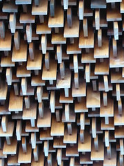 Batavia, IL, Fermi National Accelerator Laboratory (Fermilab), Wilson Hall, Auditorium Lobby Ceiling (Mary Warren (7.1+ Million Views)) Tags: wood abstract building lines architecture geometry walnut fermilab bataviail wilsonhall ferminationalacceleratorlaboratory