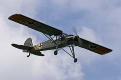 Fieseler Fi156C-3 Storch - 5 (NickJ 1972) Tags: les la aviation airshow temps storch 2016 alais helices ferte fieseler fi156 fazra 2era