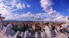 Panorama Venezia2HDR (ansacariofoto) Tags: italy panorama rome roma clouds nuvole hdr vittoriano tokina1116 nikond5000