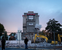 Implosion (JustinDustin) Tags: tower urbandecay urbanexploration choa implosion bellsouth urbex 2014 ndruidhills nersha atlantademolition