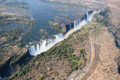 Victoria Falls from a helicopter (Clare Forster) Tags: africa above summer sun fall water waterfall wildlife exploring delta august victoria aerial falls adventure explore helicopter okavango 2014