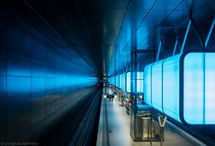 Some kind of blue (katrin glaesmann) Tags: metro hamburg tube ubahn hvv u4 hafencityuniversitt photowalkmitmichi unterwegsmitmichi