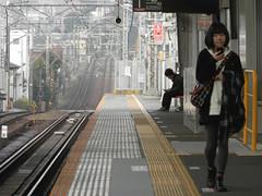 PB120047a (mr_nihei) Tags: girl beauty station japan train railway yokohama kanagawa tokyu higashihakuraku