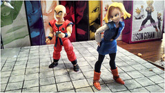 "A18 & Krillin SH figuarts ("" 43 "") Tags: ball all dragon review cell collection figure z trunks 18 figurine piccolo sh figures android diorama krillin bandai goku vegeta gohan c18 dbz ssj freeza"
