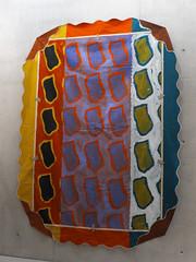 Tribute  — Claude Viallat (1936, Nîmes-), Hommage à Matisse, Le rideau jaune, 1992, acrylique sur bâche recto-verso, 3.40x2.50m (michelle@c) Tags: white colors painting artwork acrylic montpellier musée cover repetition motive 1992 fabre untitled chromatic empreinte vibration yellowcurtain 2014 bâche claudeviallat hommageàmatisse rétrospective lerideaujaune michellecourteau modifiedgreen tributetomatisse