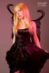 IMG_0466 (Neil Keogh Photography) Tags: white black green female wings highheels gothic fairy blonde heels fishnets butterflywings fairywings studioshoot corsetfishnettights modelarialee pixiewingsdress