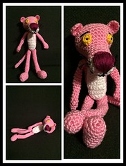 pink panther (arina23111963) Tags: pink cartoon amigurumi pinkpanther haken häkeln freepattern rozepanter