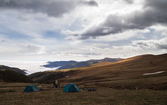 On the ridge (dennisfen) Tags: above trip travel camp mountain nature bike bicycle sport clouds digital rocks tent ridge journey mtb caucasus 2014   canonef24105mmf4l  canoneos5dmarkii 5dm2 2014