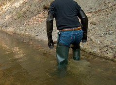 EX000009 (hymerwaders) Tags: new wet muddy waders matsch nass watstiefel
