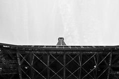 Eiffel tower (PietZa) Tags: travel blackandwhite white black paris france tower monochrome architecture geotagged eiffel frankrijk parijs geo:lon=2294973 geo:lat=48857924
