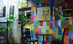 Coffee and conversations (Aditi Patnaik) Tags: coffee colors cafe colorful paintings owl coffeetable wallhangings paintedwall wallmural calantheartcafe