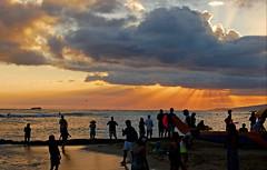 Intimations of Immortality (jcc55883) Tags: ocean sunset sky silhouette clouds hawaii nikon waikiki oahu horizon pacificocean waikikibeach yabbadabbadoo d40 kuhiobeachpark nikond40