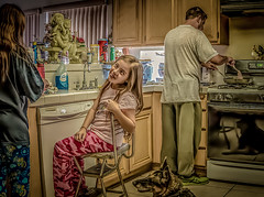 Family Breakfast (Adam Yurkunas) Tags: family photoshop canon vibrant extreme cartoon scene processing edit lightroom 70d