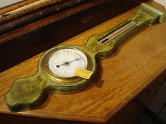 "ANTIQUE WALL BAROMETER IN GREEN • <a style=""font-size:0.8em;"" href=""http://www.flickr.com/photos/51721355@N02/15668112873/"" target=""_blank"">View on Flickr</a>"