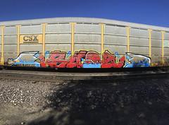 Bubz (Revise_D) Tags: graffiti tagging freight revised trainart fr8 bubz bsgk benching fr8heaven benchingsteelgiants
