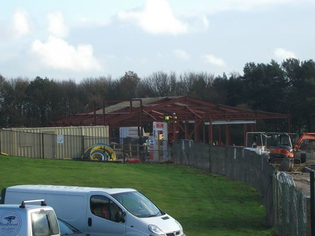 10/11/14 - The restaurant building is coming along.